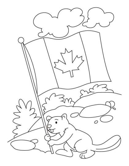 beaver coloring pages preschool happy beaver celebrating the canada day coloring pages 1