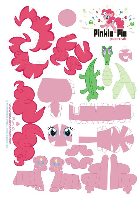 Papercraft My Pony - my pony filly blank template spread jpg