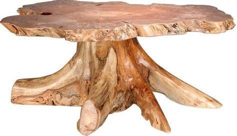 Rustic Big Leaf Burl Coffee Table from DutchCrafters Amish Furniture