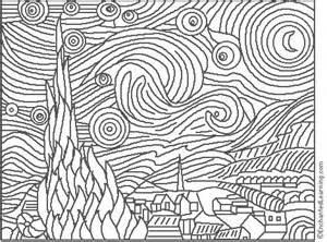 starry coloring page gogh starry coloring page enchantedlearning