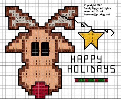 Country Cottage Cross Stitch Reindeer And Star Cross Stitch Pattern