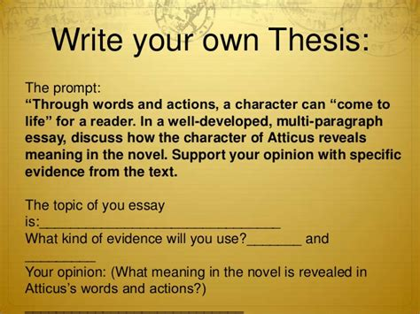 writing a thesis statement middle school introduction to thesis statements high school