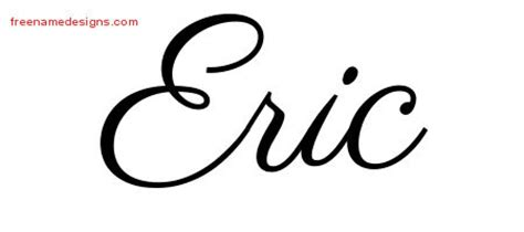 tattoo name eric eric archives free name designs