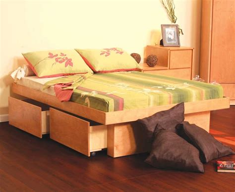full size platform bed with storage drawers plans woodguides