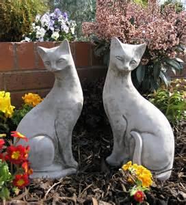Solar Garden Lights Animals - pair of siamese cats garden ornaments ct7 ct8 163 42 99 garden4less uk shop