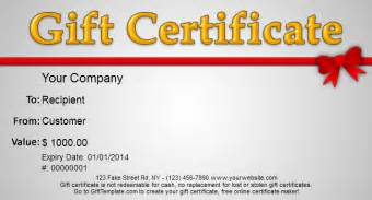 free gift certificate maker template gift template free gift certificate templates