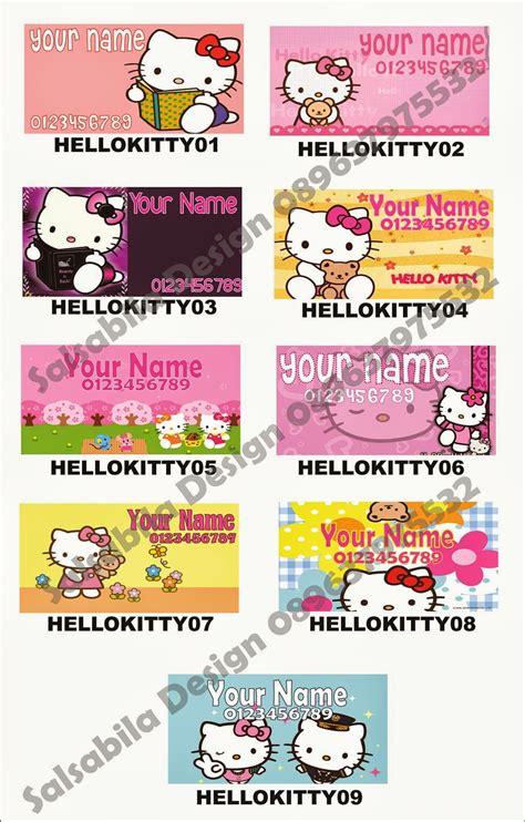 Sticker Label Pengiriman Onlineshop Shipping Label 16 sticker stiker label nama hello jasa desain percetakan salsabila design