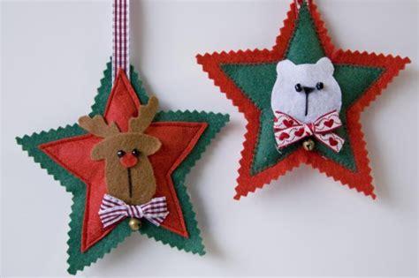 adornos arbol navidad fieltro adornos para el 225 rbol de navidad estrellas de fieltro
