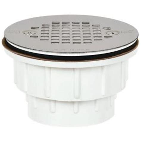 sioux chief 2 in pvc shower drain with strainer 825 2ppk the home depot