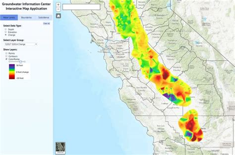 california map interactive interactive map of groundwater levels and subsidence in