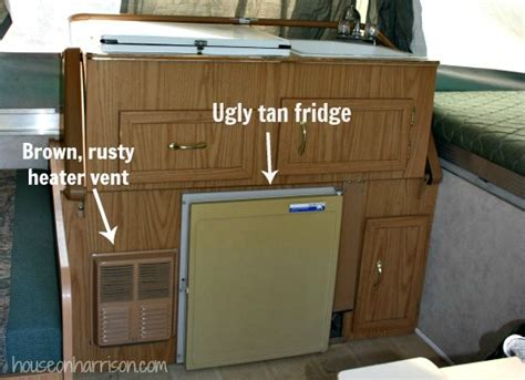 how to make rv cabinets pop up cer remodel painting the cabinets the pop up