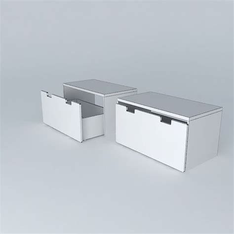 stuva storage bench stuva storage bench 3d model max obj 3ds fbx stl dae