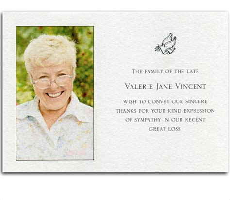 thank you card funeral template 6 bereavement thank you cards free sle exle