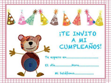 imagenes de cumpleaños para invitaciones invitaciones de cumplea 241 os infantiles imagenes de cumplea 241 os