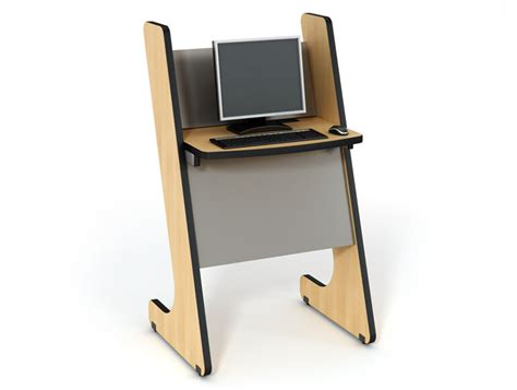 Desk Kiosk by E Kiosk Classroom Furniture Computer Comforts