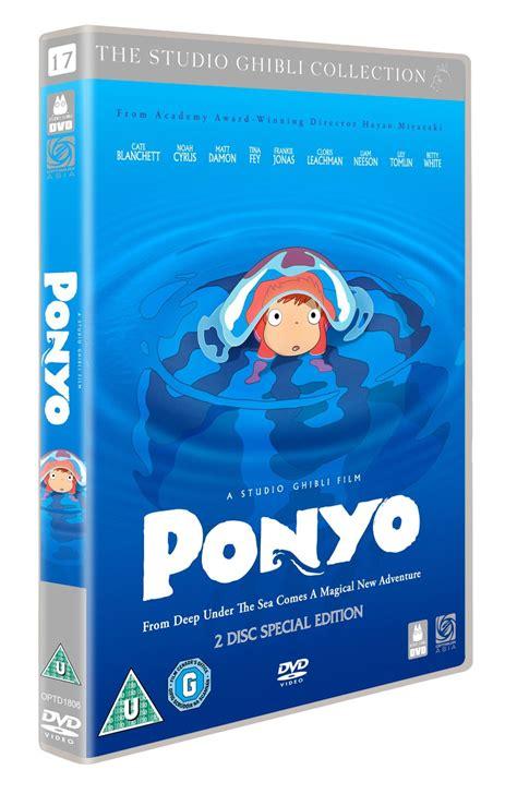ponyo blu ray slipcover ponyo 2 disc edition dvd 5055201809124 ebay