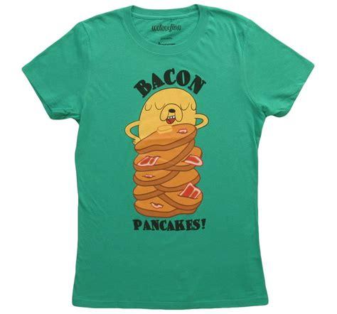Kaos Adventure Time Bacon Pancakes womens adventure time bacon pancakes t shirt bacon pancake