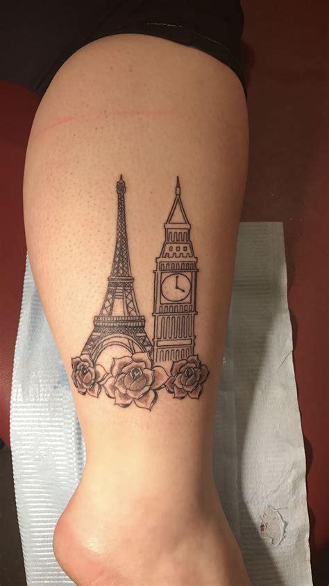 paris tattoo eiffeltower bigben europe eiffel tower big ben