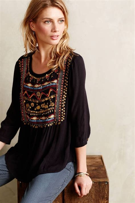 Boho Blouse Tunic Mariana i these i them and now i can wear them with a top like this fashion