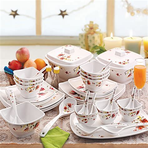 dinner set cello hestia melamine dinner set 40 pcs brown paradise