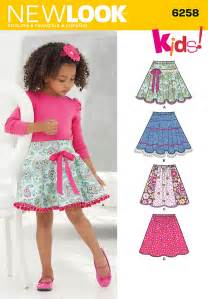 New look 6258 child s and girls circle skirts sewing pattern