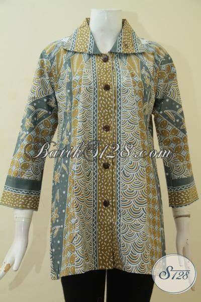 desain baju batik trend blus batik printing desain keren trend masa kini baju