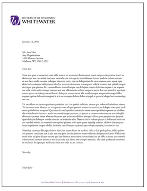 letterhead and fax templates university of wisconsin