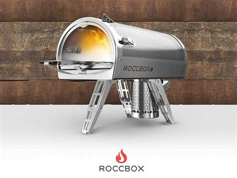 roccbox portable oven cooks a pizza in 90 seconds portable oven roccbox pizzas in 90 seconds device boom