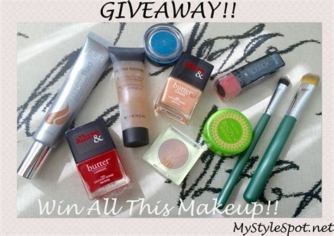 Cosmetics Giveaway - giveaway win over 150 in makeup mystylespot