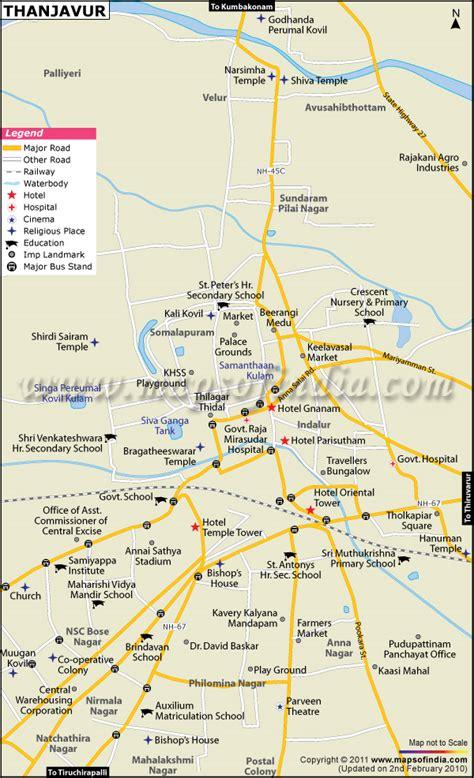 thanjavur city map