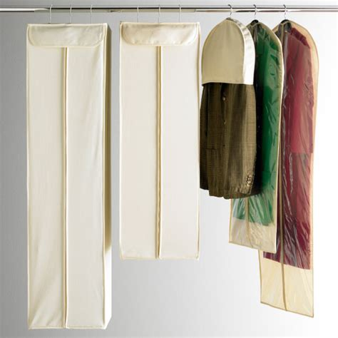 Hanging Closet Garment Bags by Cotton Hanging Storage Bags The Container Store