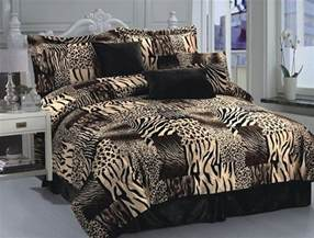 7pc multi animal print microfur comforter set king size