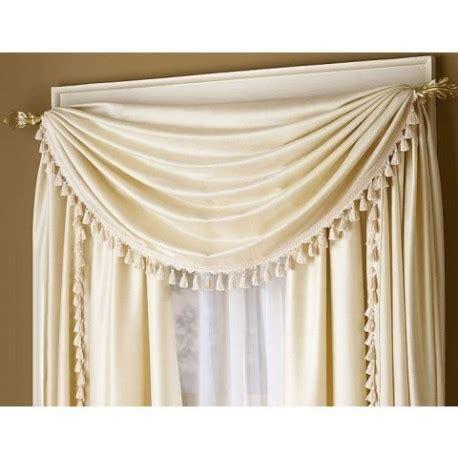 Royal Antique Satin Tassel Scarf   Curtain Drapery.com