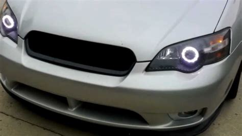 subaru legacy gt custom led halo headlights youtube