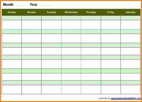 5 week calendar template 10 week calendar template blank calendar 2018