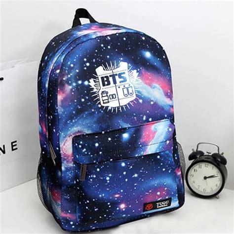 bts kpop bangtan boys blue bag schoolbag backpack kpop new jungkook jimin jin ebay