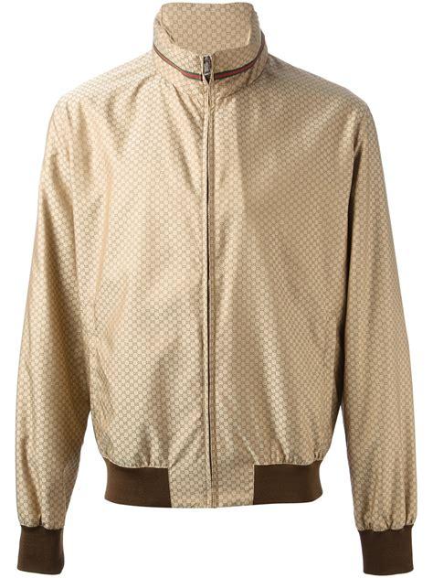 Jaket Bomber Rocafela 2 In 1 gucci monogram bomber jacket in brown for lyst