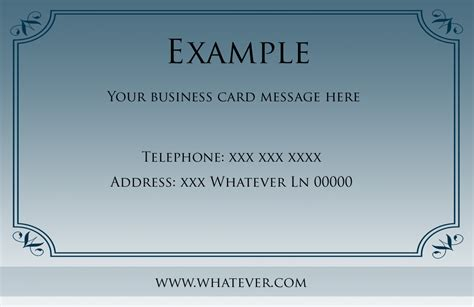 free borders templates for business cards business card borders free blue borders business card