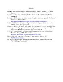 Relapse Prevention Plan Template by Relapse Prevention Plan