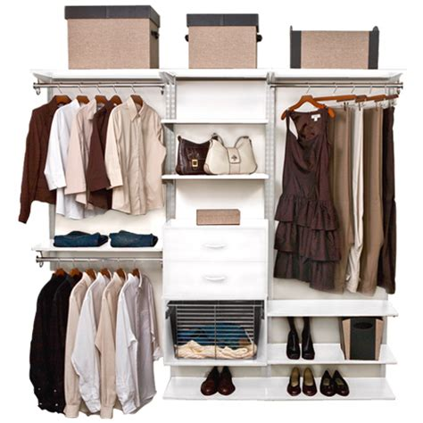 Closet Rail System Freedomrail Closet Shelving System White In Pre Designed