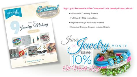 Where To Get Free Ebooks To Giveaway - get a free jewelry ebook from consumer crafts plus a giveaway