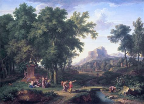 Ideal Landscape History File Arcadian Landscape With A Bust Of Flora By Jan
