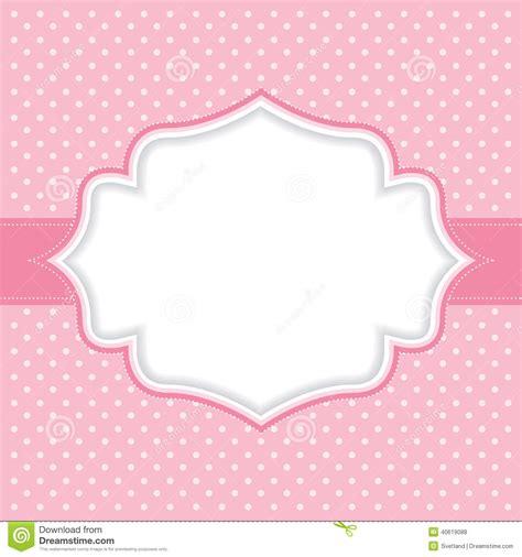 pink polka dot with frame background labs polka dot frame stock vector image 40619088