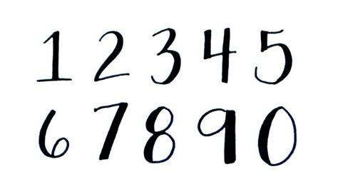 tattoo digital numbers 25 best ideas about number fonts on pinterest number