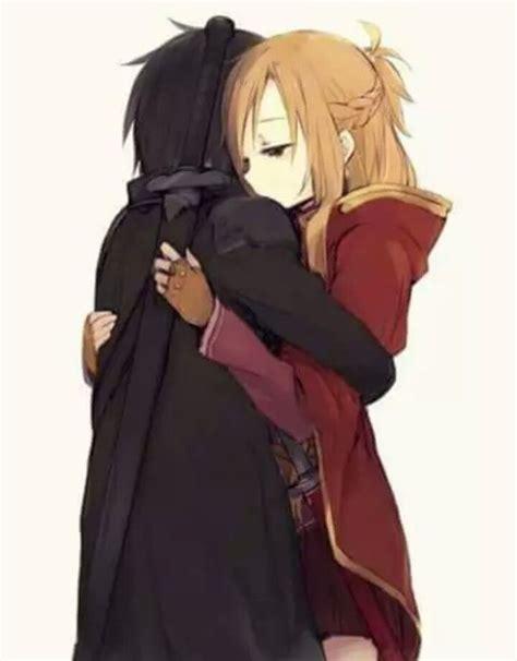 anime couple hugging 466 best sword art online sao images on pinterest