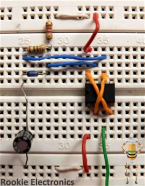 breadboard circuit for 555 timer lfr using just 555 timers rookie electronics electronics robotics projects