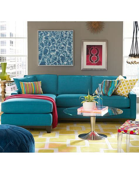 apartment furnishing keegan fabric sectional sofa living room furniture