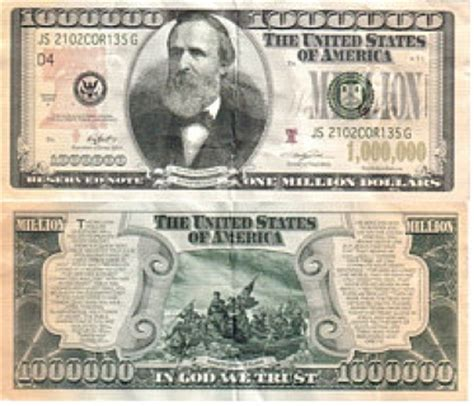 Free: Collectable Rare $1000000 MILLION DOLLAR BILL Hayes ... $1000000 Bill
