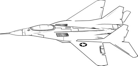 Printable Fighter Jet Coloring Pages Coloring Jet Coloring Page