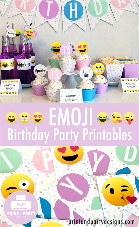 birthday themed emojis 28 best emoji themed birthday party ideas images on